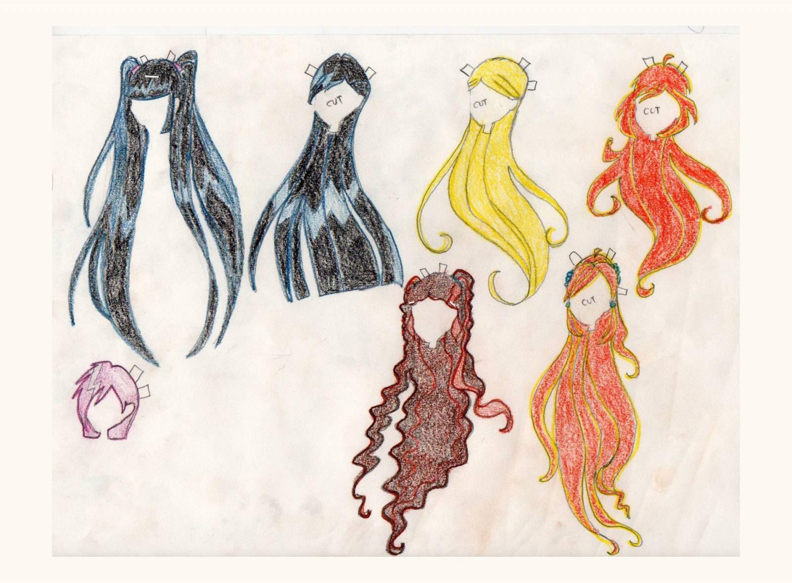 Как сделать бумажные волосы кукле