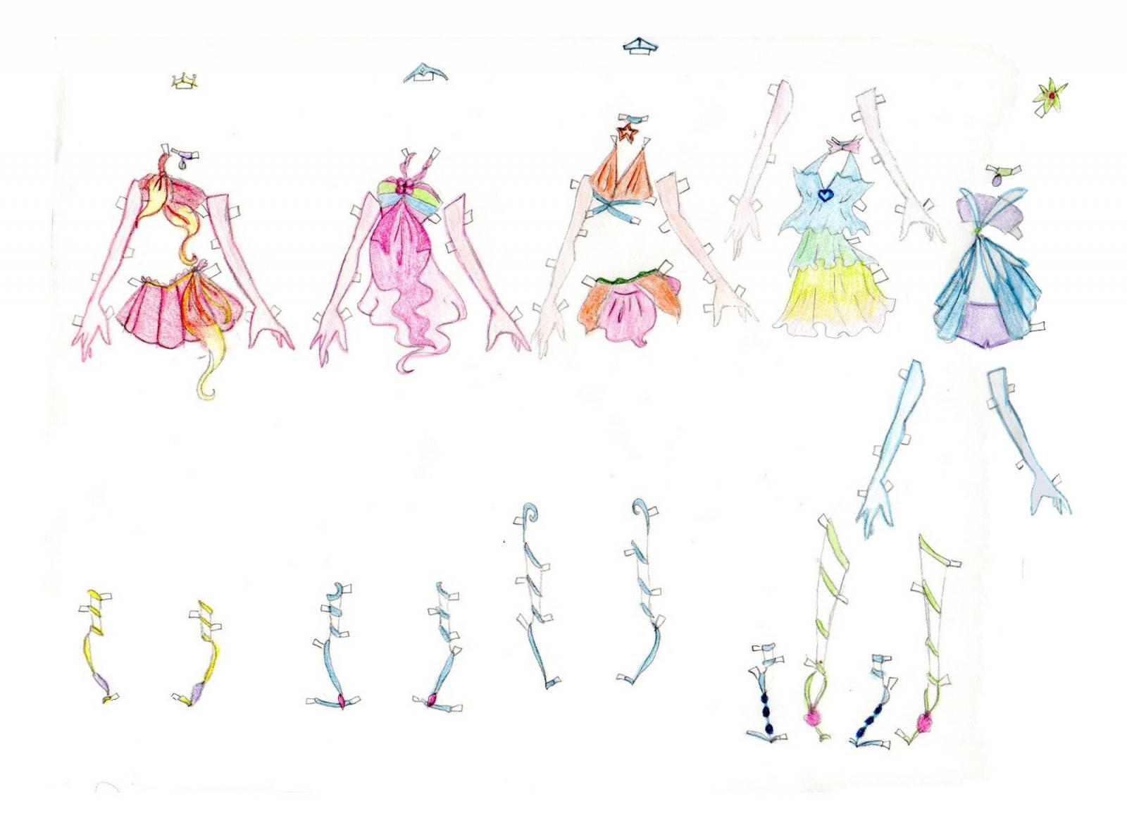 Схемы как нарисовать куклы