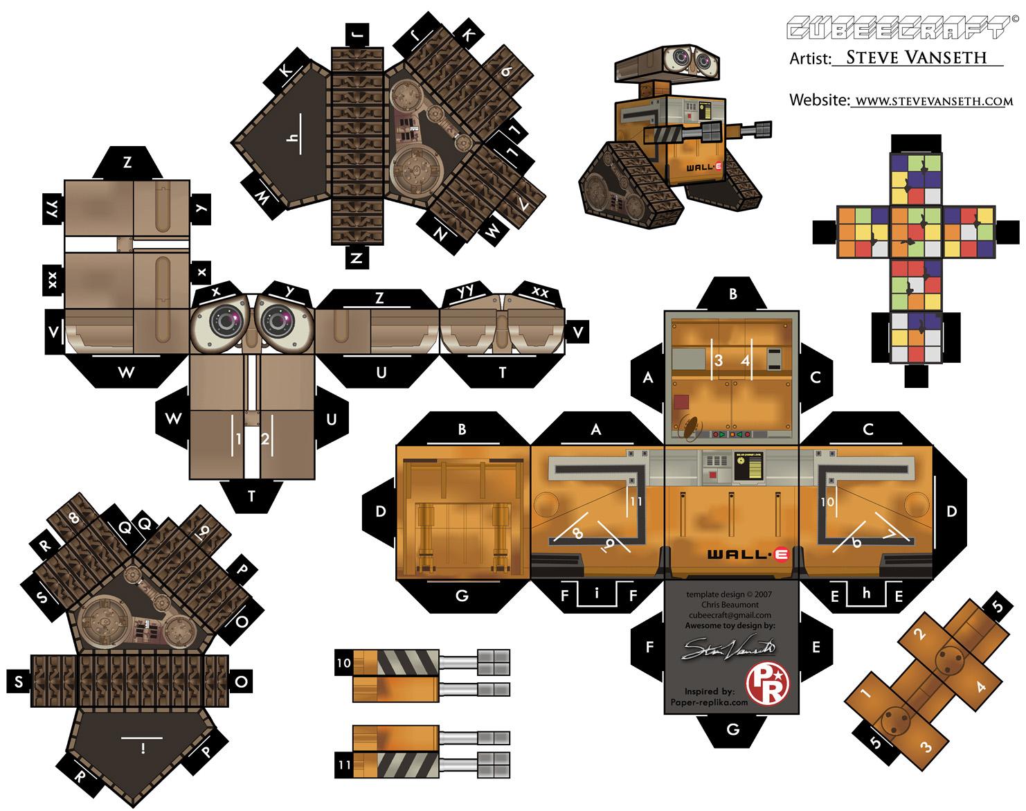 Схема сборки персонажей